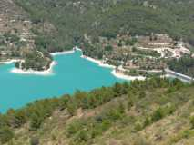 View from Guadalest of the lake